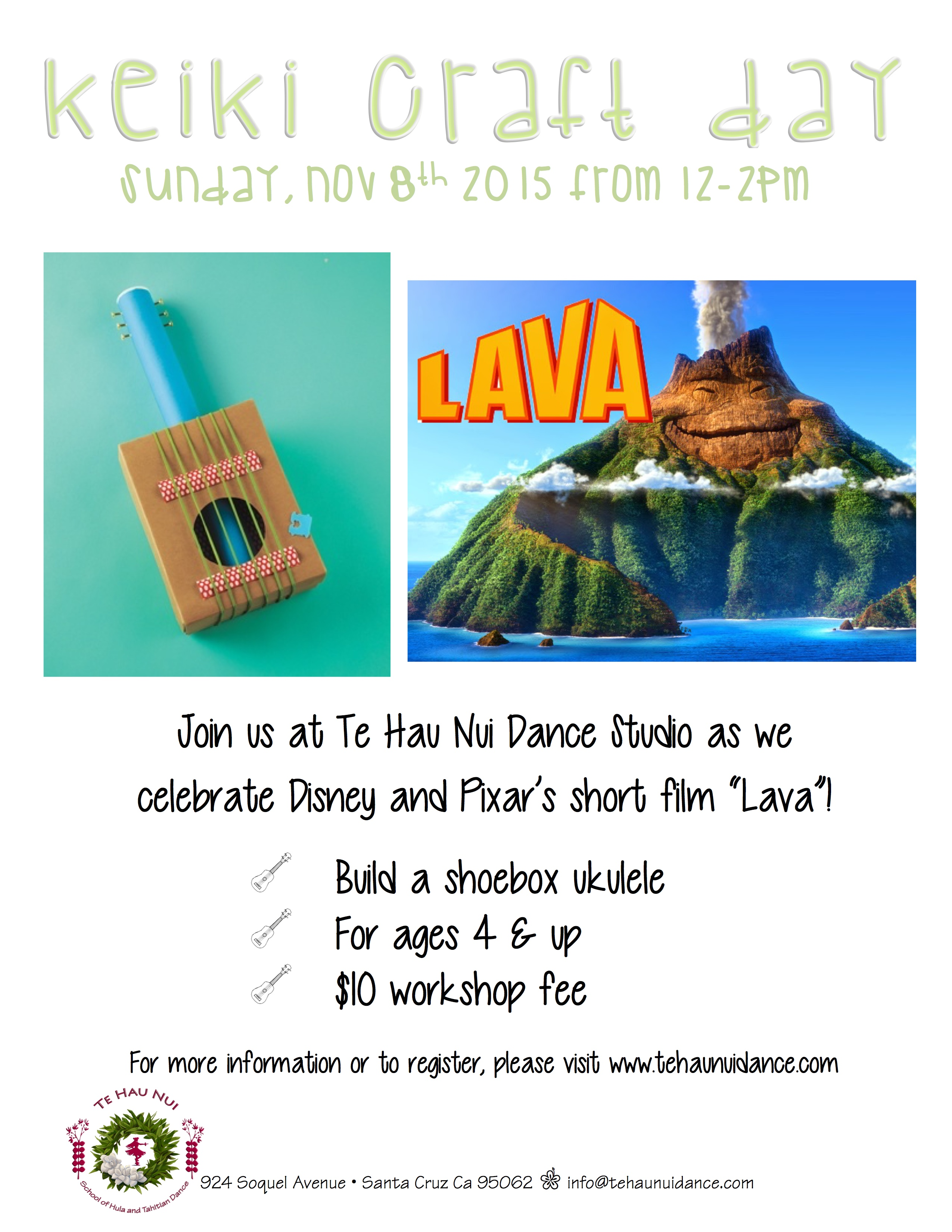 Keiki Craft Day @ Te Hau Nui School of Hula and Tahitian Dance Studio | Santa Cruz | California | United States