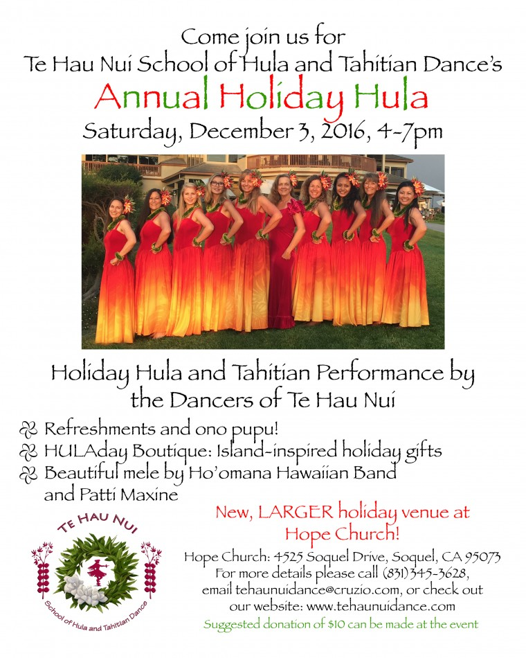 Holiday Hula and HULAday Boutique Fundraiser @ Hope Church | Soquel | California | United States